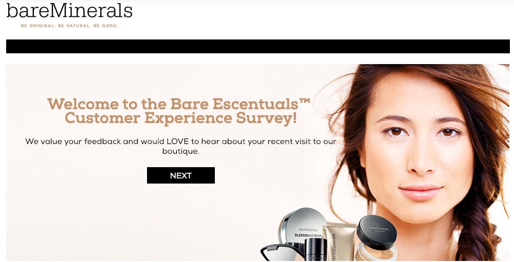 Bare Escentuals™ Customer Experience Survey!