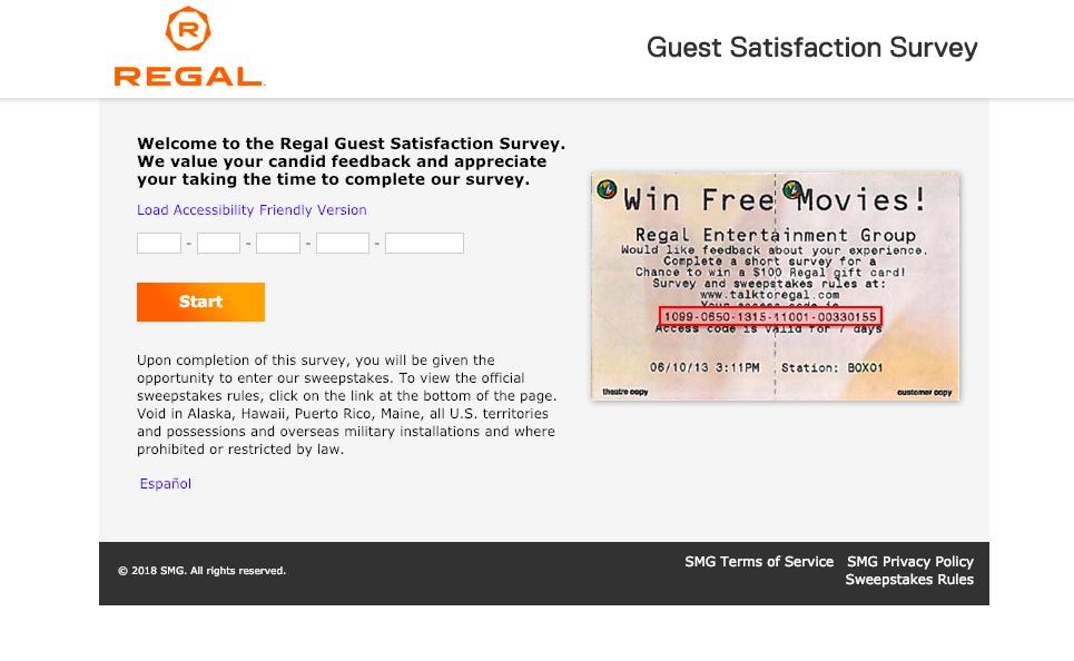 Regal Guest Satisfaction Survey