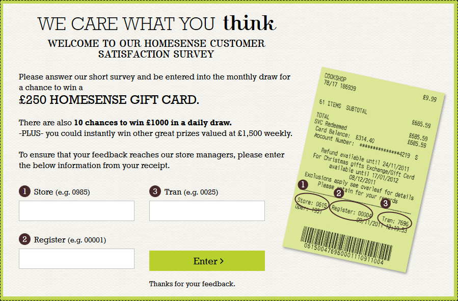 Homesense Survey