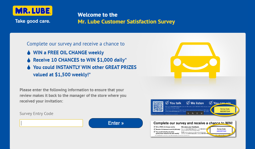 Mr. Lube Customer Survey