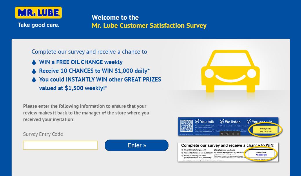 Mr. Lube Customer Survey