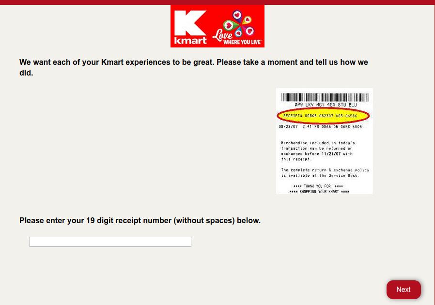 Kmart Customer survey