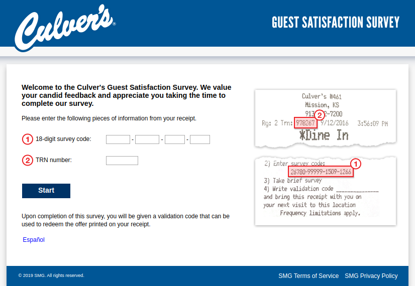 Culver s Guest Satisfaction Survey