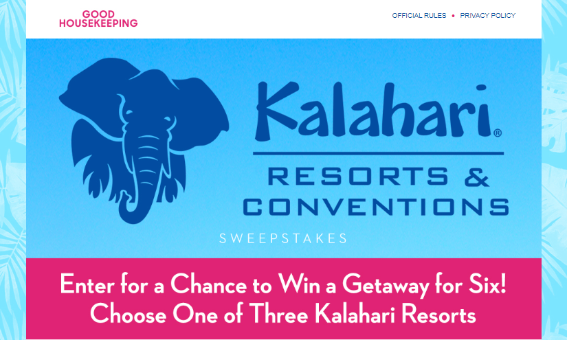 Good Housekeeping Kalahari Resort Sweepstakes Logo