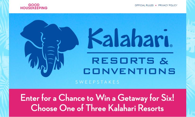 Good Housekeeping Kalahari Resort Sweepstakes Logo