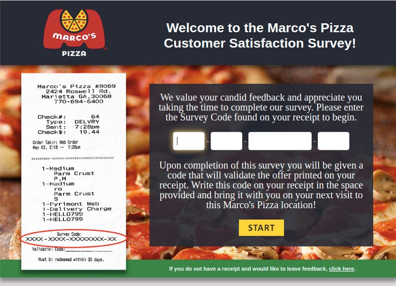 Marco's Pizza Survey