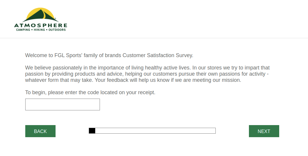 Atmosphere Customer Survey