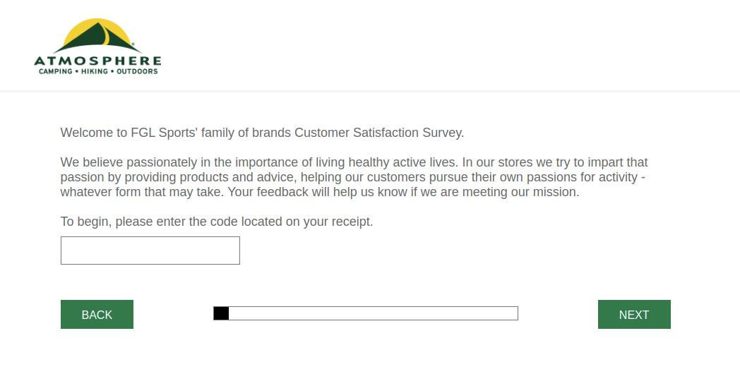 Atmosphere Customer Survey