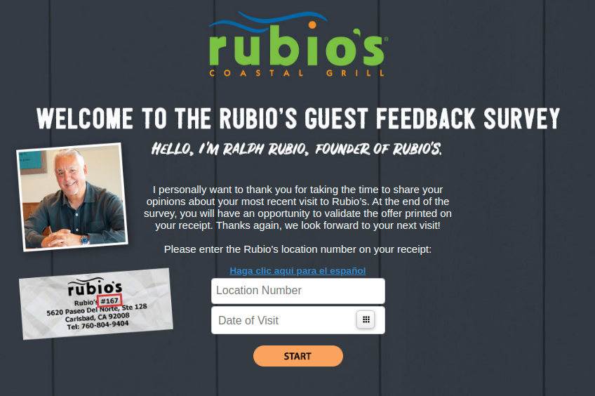 Rubio s Guest Feedback Survey