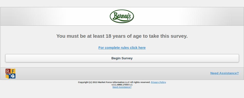 barneys survey