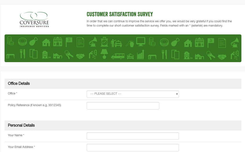 Coversure Customer Satisfaction Survey