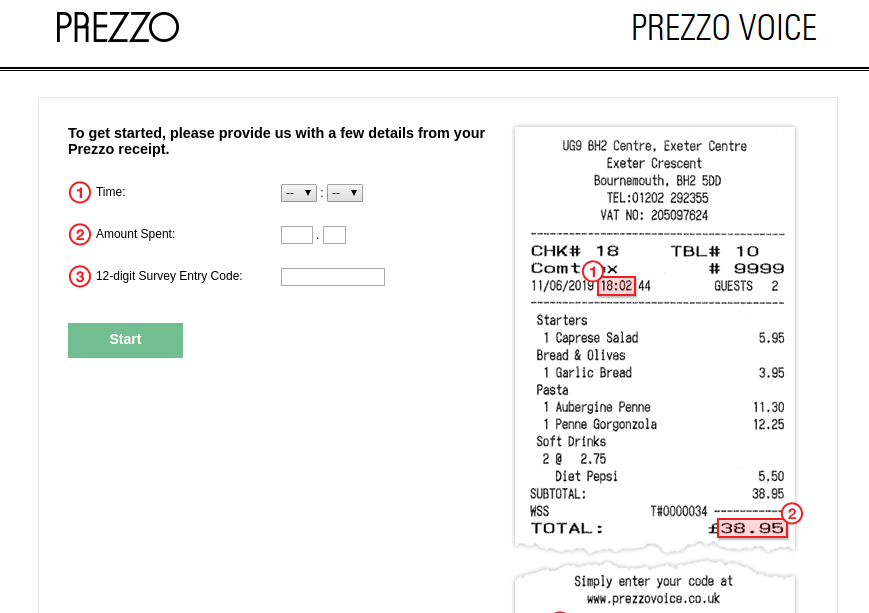 Prezzo Voice Survey