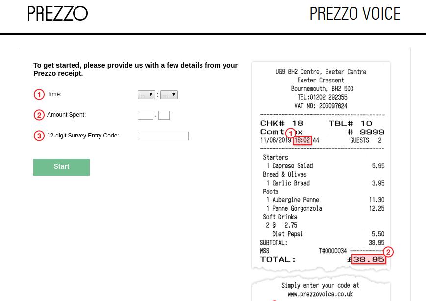 Prezzo Voice Survey