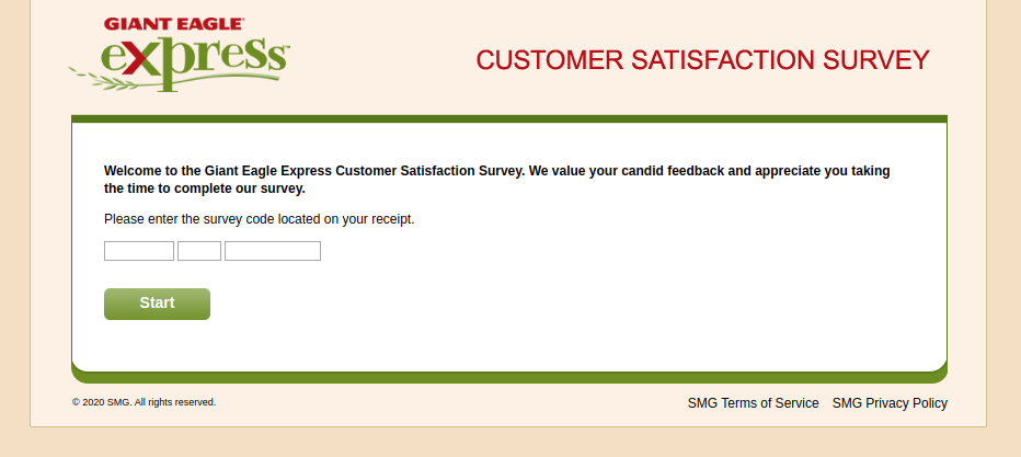 Giant Eagle Express Customer Satisfaction Survey