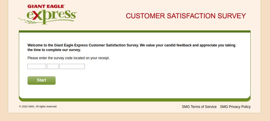 Giant Eagle Express Customer Satisfaction Survey
