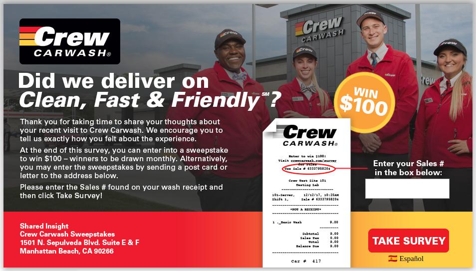 Crew Carwash Survey