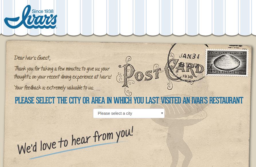 Ivar s Restaurants Survey