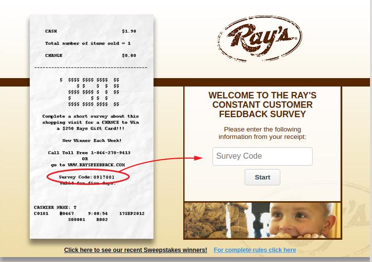 Rays Constant Customer Survey