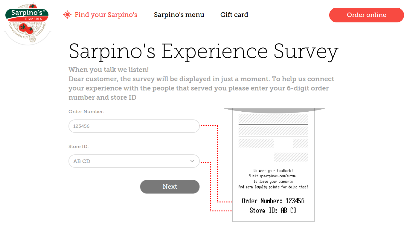 Sarpino Survey