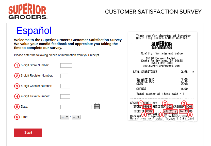 Superior Grocers Customer Survey