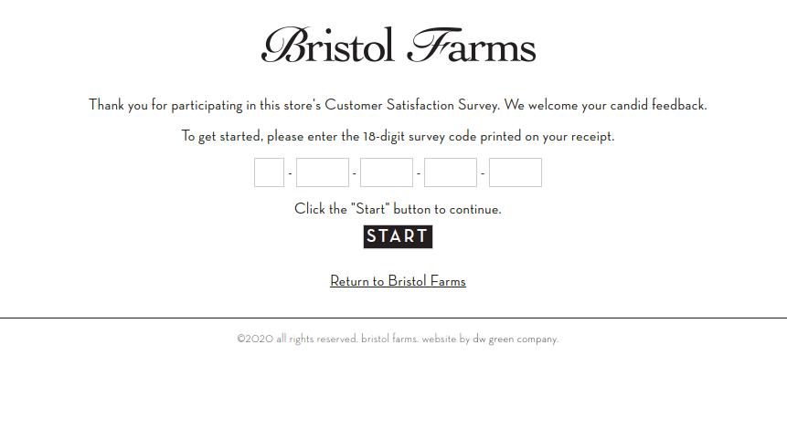 Bristol Farms Survey