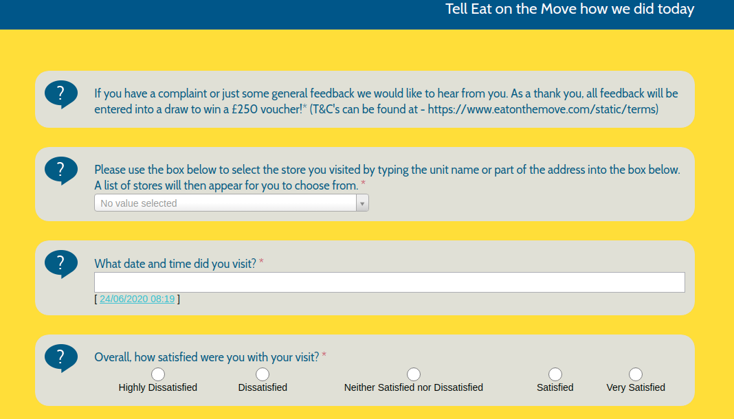 Eat on the Move Survey