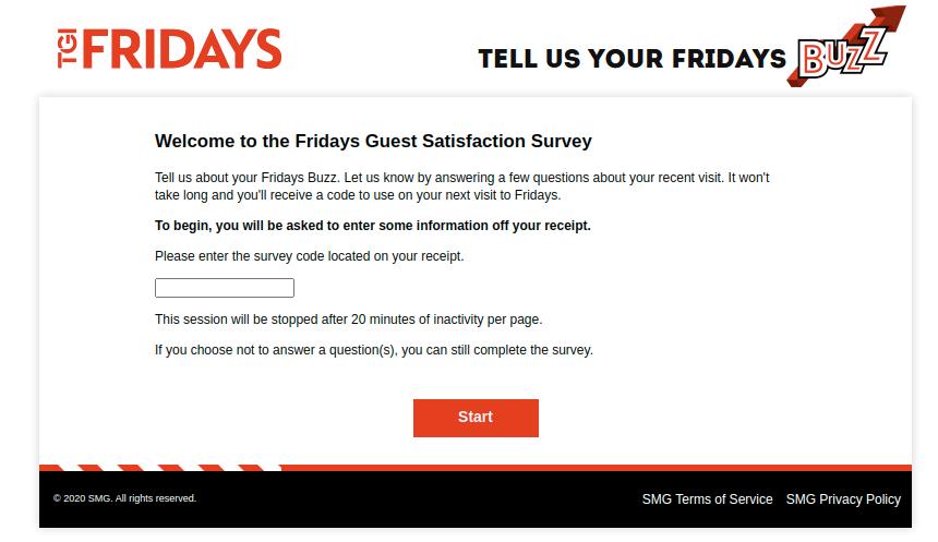 TGI Fridays Guest Survey
