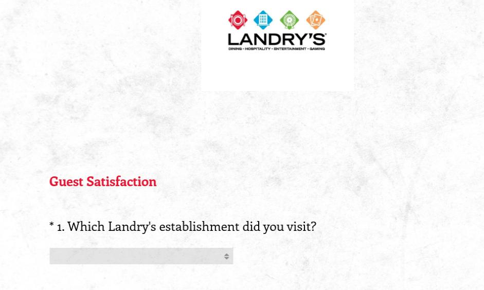 Landry's Customer Survey