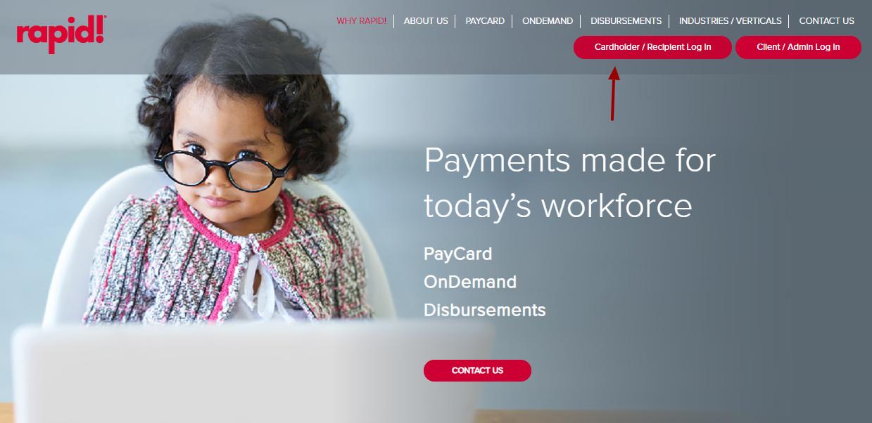 rapid PayCard Login