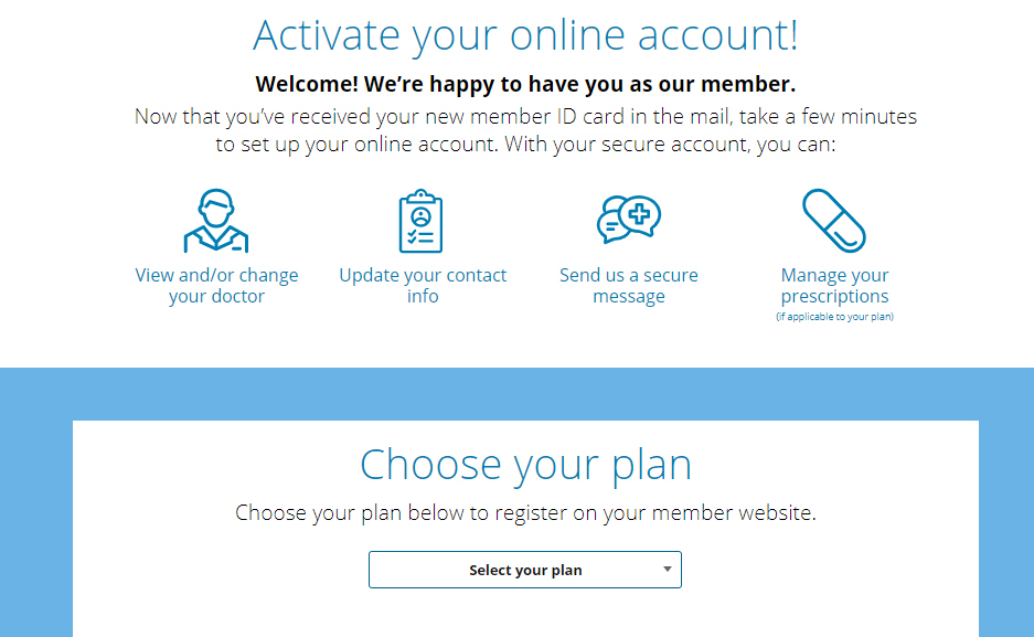 my health plan account activate